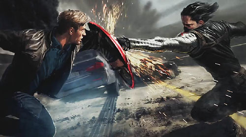 Captain America vs Winter Soldier