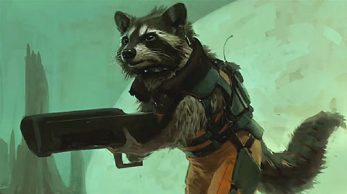 "Rocket Raccoon aus ""Guardians of the Galaxy"""