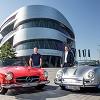 Mercedes-Museum gratuliert Porsche