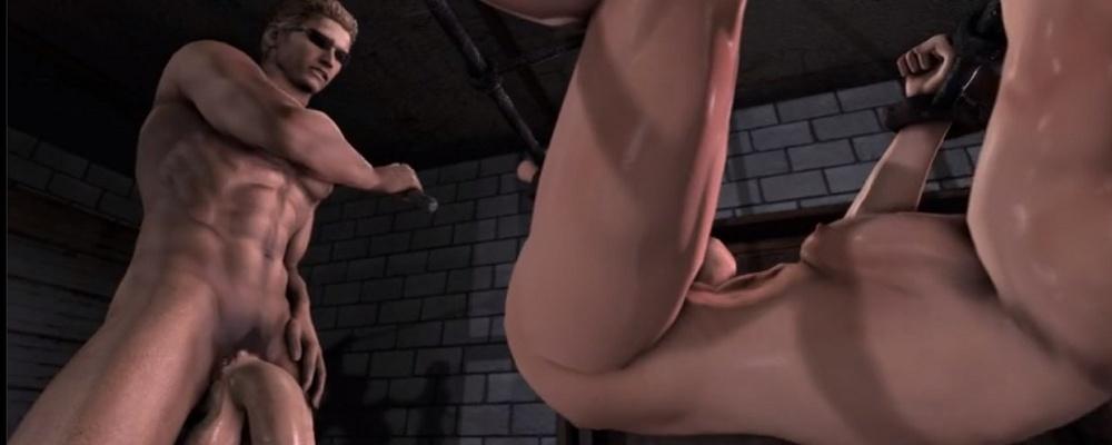 Schwule Resident Evil-Pornos: Wesker und Chris...