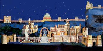 Opulentes Bühnenbild Nabucco
