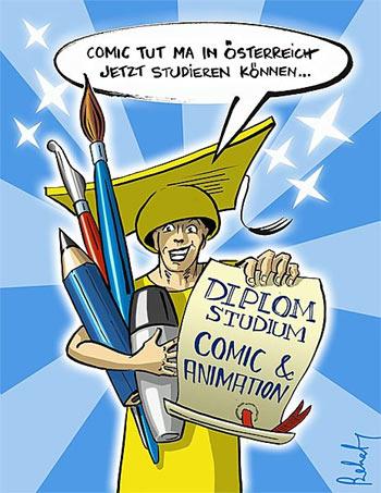 Comic und Animation an der kunstschule.at © Gabriele Szekatsch