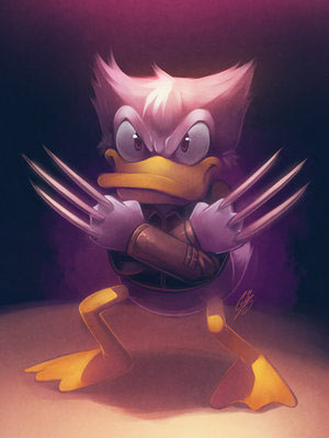 Donald/Wolverine by SaiyaGina