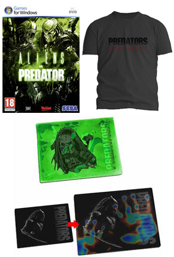 "T-Shirt, Mouse mat und ""Aliens vs Predator"" PC Game"