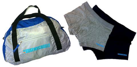 Sporttasche und Boxershort-Set