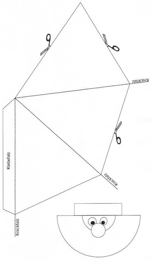 weihnachtsmann aus papier. Black Bedroom Furniture Sets. Home Design Ideas